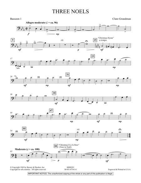 Three Noels - Bassoon 1