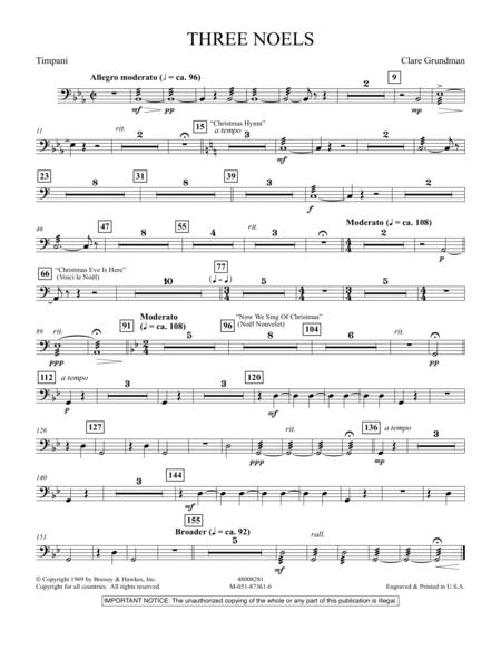 Three Noels - Timpani