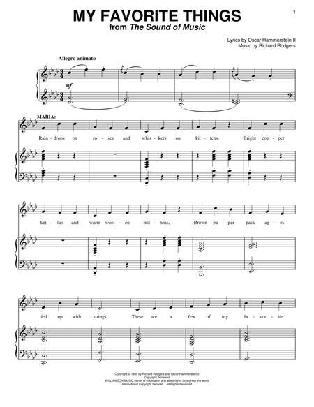 Download My Favorite Things Sheet Music By Julie Andrews Sheet