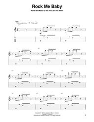 Download Rock Me Baby Sheet Music By B B  King - Sheet Music