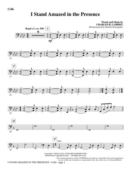 I Stand Amazed In The Presence - Cello