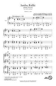Download Jambo, Rafiki (Hello, Friend) Sheet Music By Mary