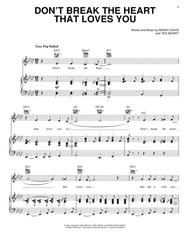 Download Dont Break The Heart That Loves You Sheet Music By Benny