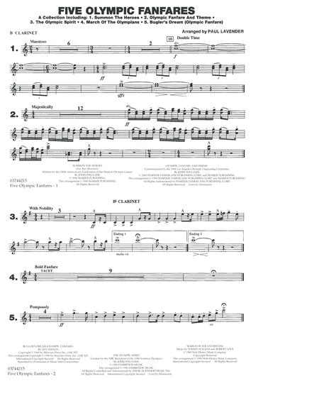 Five Olympic Fanfares - Bb Clarinet