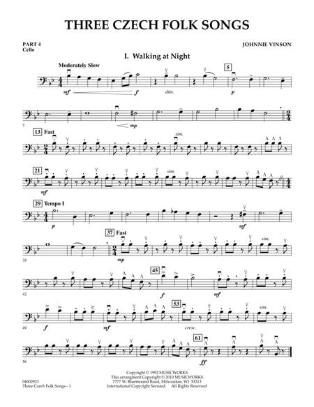 Three Czech Folk Songs - Pt.4 - Cello