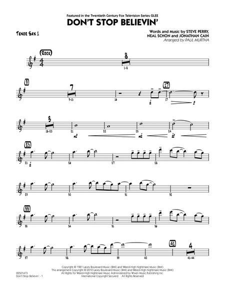 Don't Stop Believin' - Tenor Sax 1