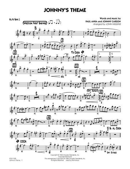 Johnny's Theme (from The Tonight Show) - Alto Sax 1