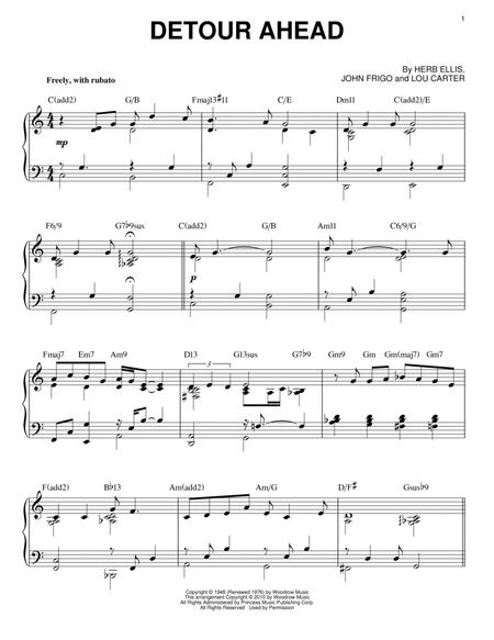 Download Detour Ahead Sheet Music By Bill Evans Sheet
