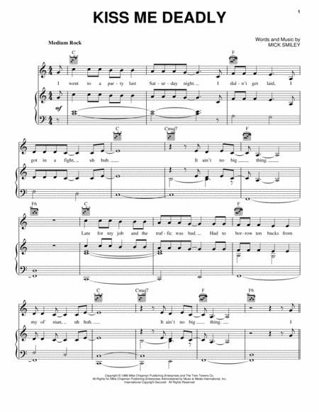 Download Kiss Me Deadly Sheet Music By Lita Ford Sheet Music Plus