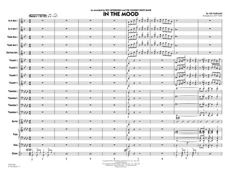 In The Mood (The Tonight Show version) - Conductor Score (Full Score)