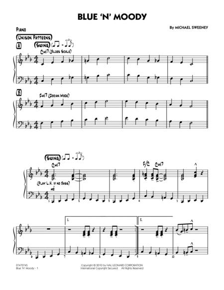 Blue 'N' Moody - Piano