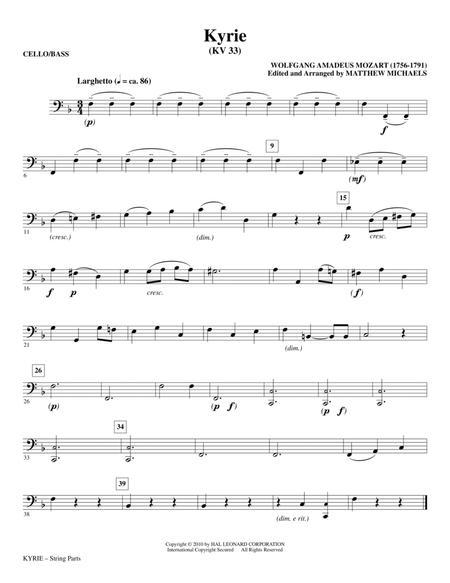 Kyrie (KV33) - Cello/Bass