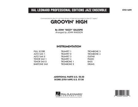 Groovin' High - Conductor Score (Full Score)