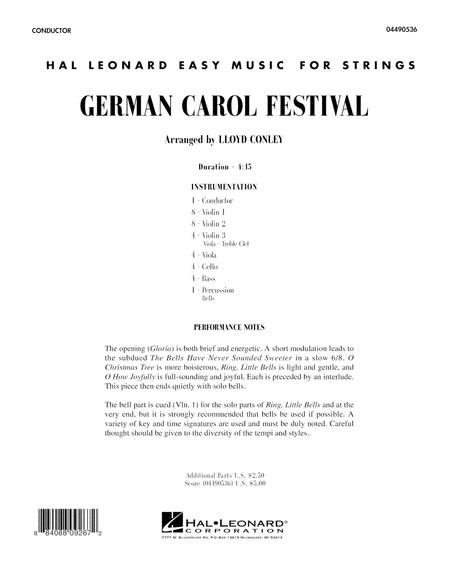German Carol Festival - Full Score