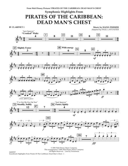 Soundtrack Highlights from Pirates Of The Caribbean: Dead Man's Chest - Bb Clarinet 1