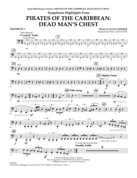 Soundtrack Highlights from Pirates Of The Caribbean: Dead Man's Chest - Trombone 3
