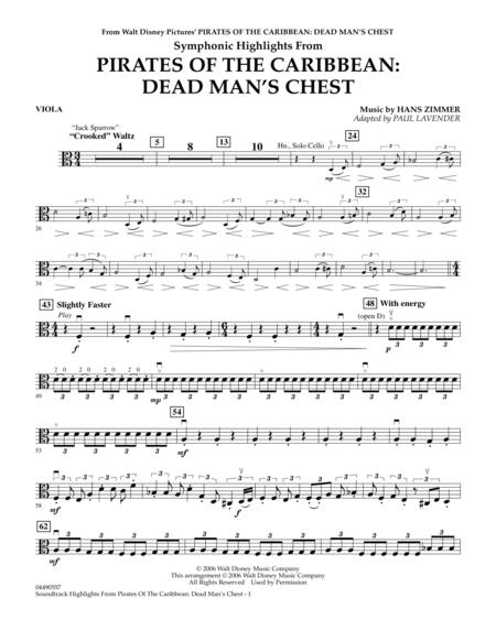 Soundtrack Highlights from Pirates Of The Caribbean: Dead Man's Chest - Viola