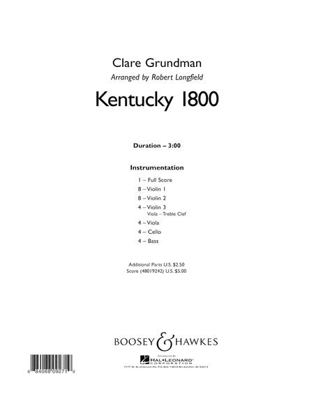 Kentucky 1800 - Conductor Score (Full Score)