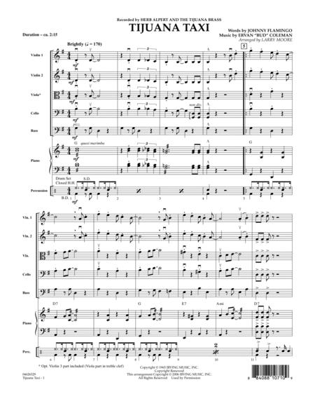 Tijuana Taxi - Full Score