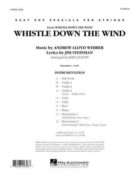 Whistle Down The Wind - Full Score