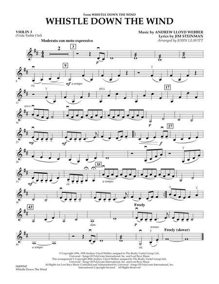 Whistle Down The Wind - Violin 3 (Viola T.C.)
