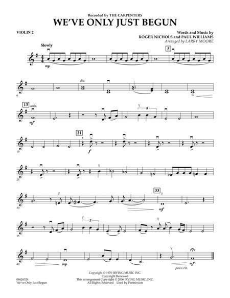 We've Only Just Begun - Violin 2