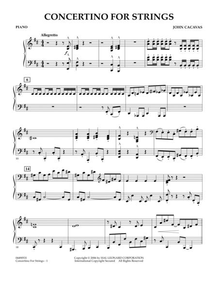 Concertino For Strings - Piano