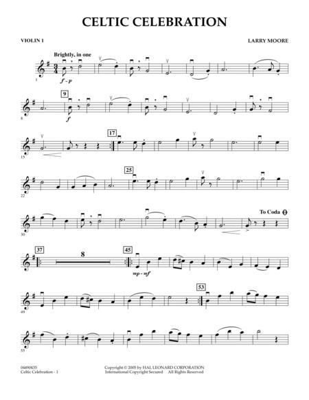 Celtic Celebration - Violin 1