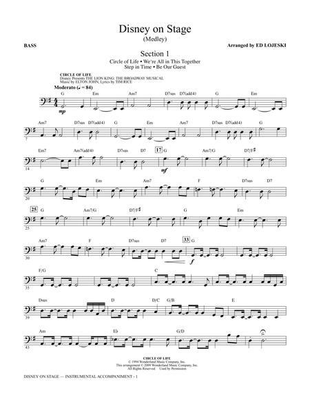 Disney On Stage (Medley) - Bass