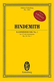 Kammermusik No. 1 Op. 24 No. 1 (Chamber Music No. 1)
