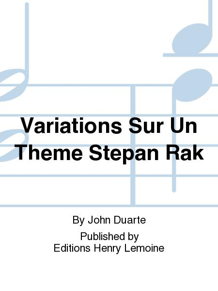 Variations Sur Un Theme Stepan Rak