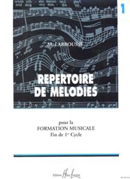 Repertoire de Melodies - Volume 1