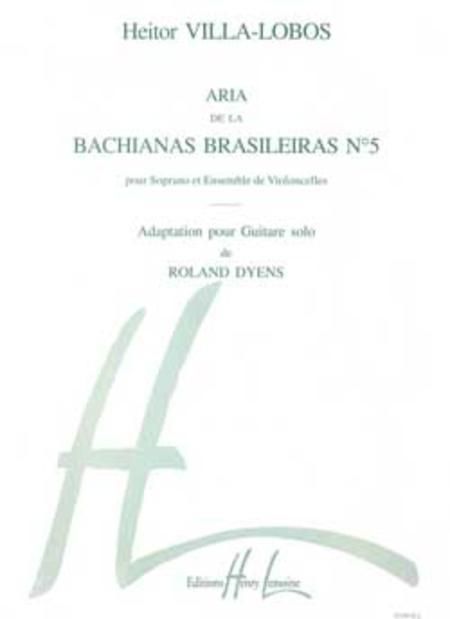 Bachianas Brasileiras No. 5 de H. Villa-Lobos: Aria