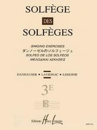 Solfege des Solfeges - Volume 3E sans accompagnement