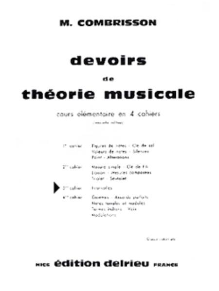 Devoirs de theorie - Volume 3