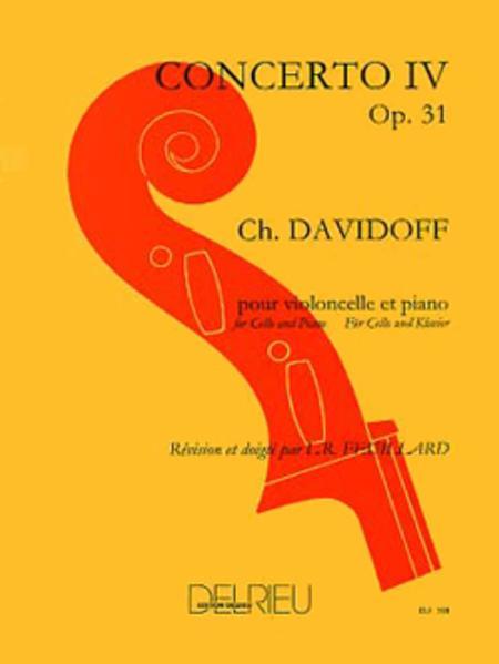 Concerto No 4 Op 31 En Mi Min Sheet Music By Karl Davidoff