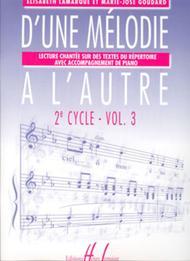 D'une melodie a l'autre - Volume 3