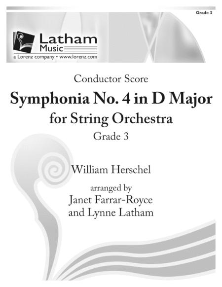 Symphonia No. 4 in D Major for String Orchestra - Score