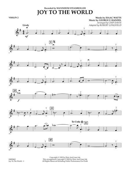 Joy To The World - Violin 2
