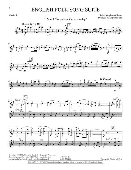 English Folk Song Suite - Violin 1