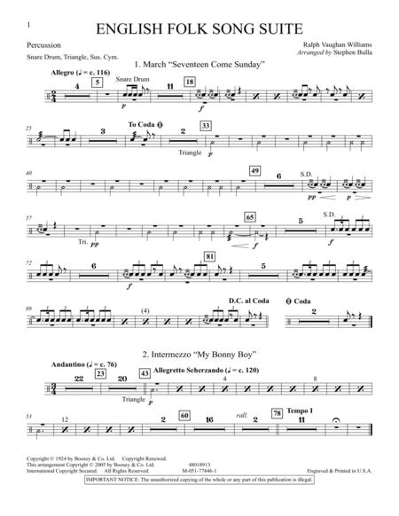 English Folk Song Suite - Percussion