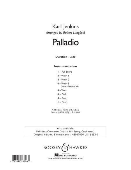 Palladio - Conductor Score (Full Score)