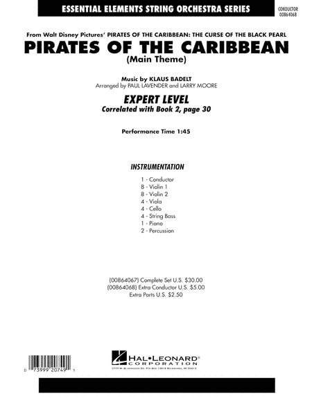 Download Pirates Of The Caribbean (Main Theme) - Full Score