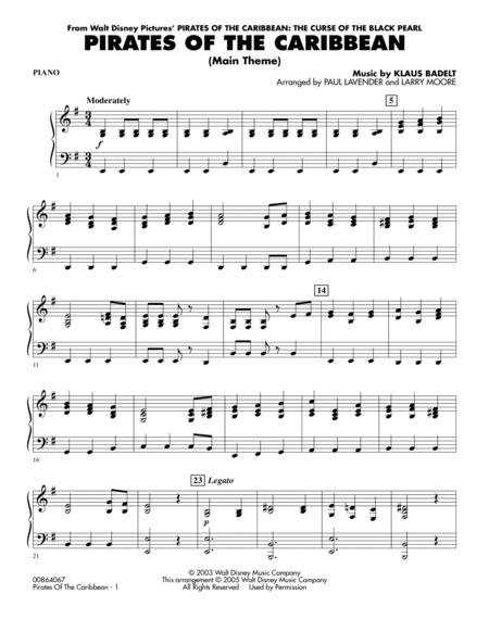 Download Pirates Of The Caribbean (Main Theme) - Piano Sheet