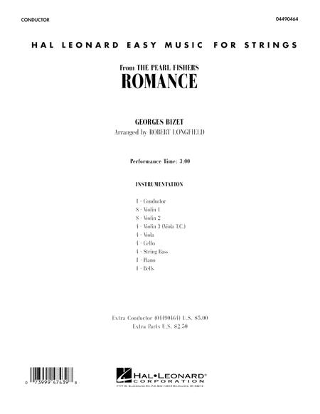 Romance (from The Pearl Fishers) - Conductor Score (Full Score)