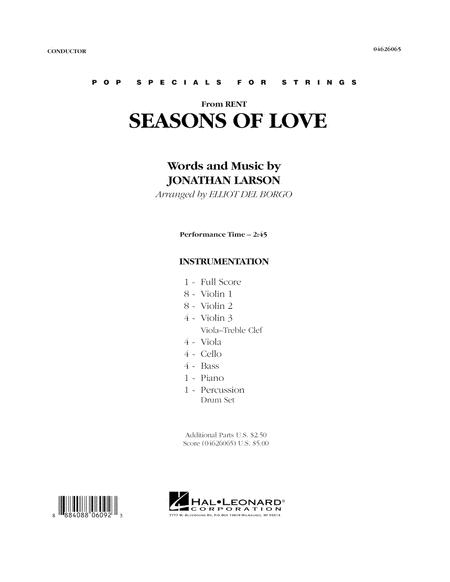Seasons Of Love - Conductor Score (Full Score)