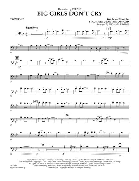 Big Girls Don't Cry - Trombone