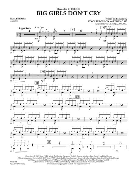 Big Girls Don't Cry - Percussion 1