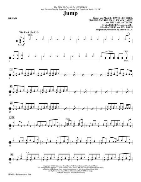 Jump Drums By By Alex Van Halen Michael Anthony David Lee Roth And Eddie Van Halen Digital Sheet Music For Choral Instrumental Pak Download Print Hx 145549 Sheet Music Plus