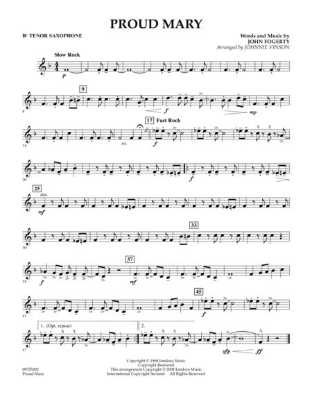 Download Proud Mary - Bb Tenor Saxophone Sheet Music By Ike & Tina ...